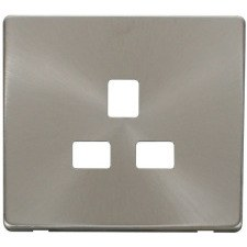 Brushed Stainless Steel Screwless Cover Plates