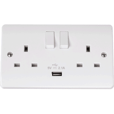 Socket Outlets 13A inc USB - Moulded