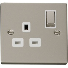 Pearl Nickel White Sockets & Switches