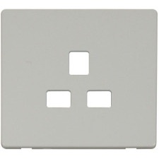 White Screwless Cover Plates