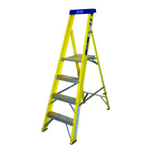 Lyte GFHP4 4 Tread Glassfibre Heavy Duty Platform Stepladder