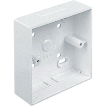 M Tufflex MSSB116WH 1 Gang 32mm Square Edge Trunking Entry