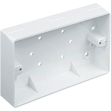 M Tufflex MSSB216WH 2 Gang 32mm Square Edge Trunking Entry