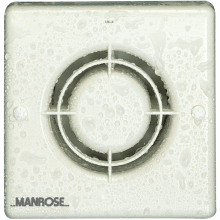 "Manrose XF100HPLV 100mm 4"" Low Voltage Bathroom Fan With Pull Cord"