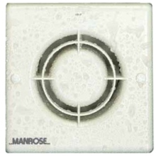 "Manrose XF100HTLVT 100mm 4"" Low Voltage Bathroom Fan With Pull Cord & Timer"