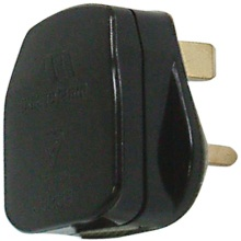 Masterplug PT13B 13A Plug Top - Black