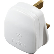 Masterplug PT13W 13A Plug Top - White