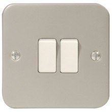 Metal Clad Light Switch 2Way MC542 2G