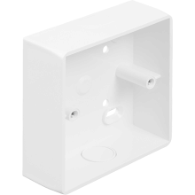 MT SB1SCWH 1 Gang Universal Box White