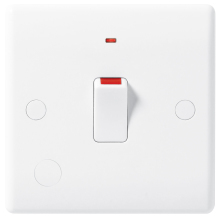 Nexus 833 20A Double Pole Switch With Neon & Flex Outlet