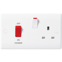 Nexus 871 45A Double Pole Cooker Control Unit With 13A Socket