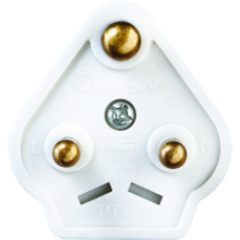 Nexus PT5W 5Amp Round Pin Plug Top White