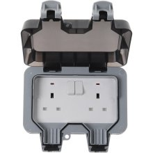 Nexus Weatherproof Socket WP22 2G 2Way