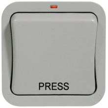 Nexus Weatherproof WP14 1G 2Way 20 Amp IP66 Retractive Press Switch