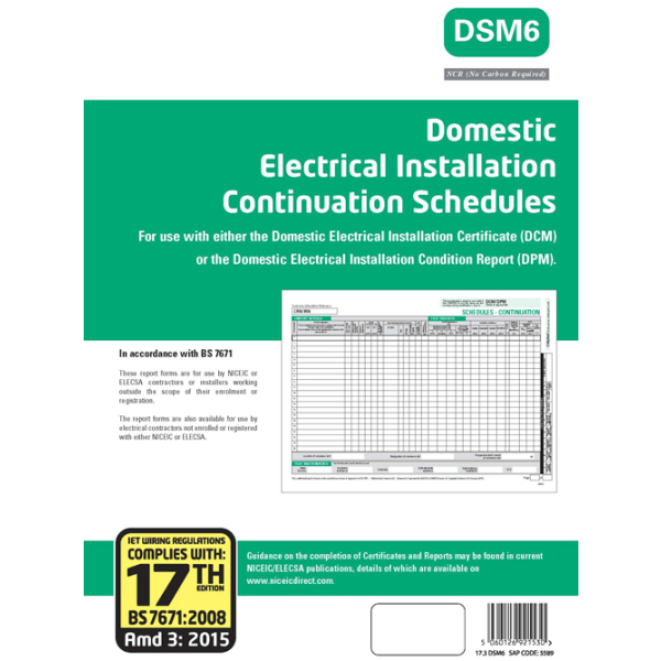 NICEIC 5594 GR Certificate-EICR17/3 | Electricbase