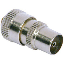 Philex 19100B Coax Plug Nickel Plated Brass
