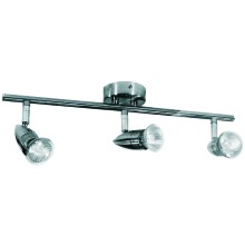 Powermaster S6336 GU10 T/Bar Spotlight 50w Brush Steel