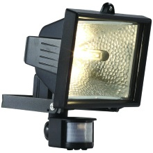 Powermaster Halogen Floodlight PIR IP44 S5891 120W Black