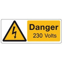 Sign Danger Vinyl 50x20mm Pk25