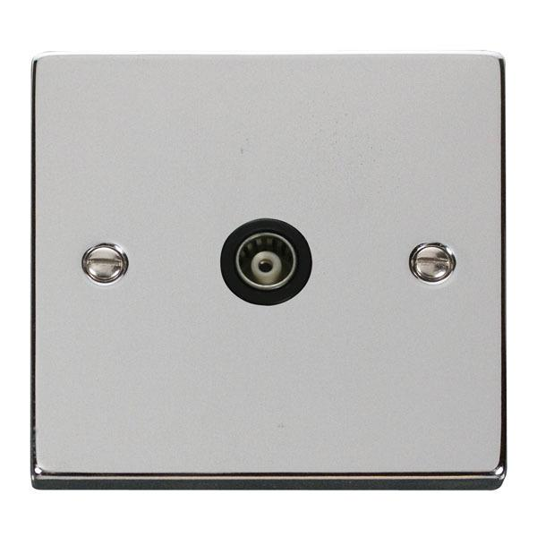 Click VPCH158BK Single Isolated Coaxial Socket Outlet