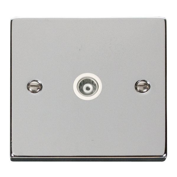 Click VPCH158WH Single Isolated Coaxial Socket Outlet