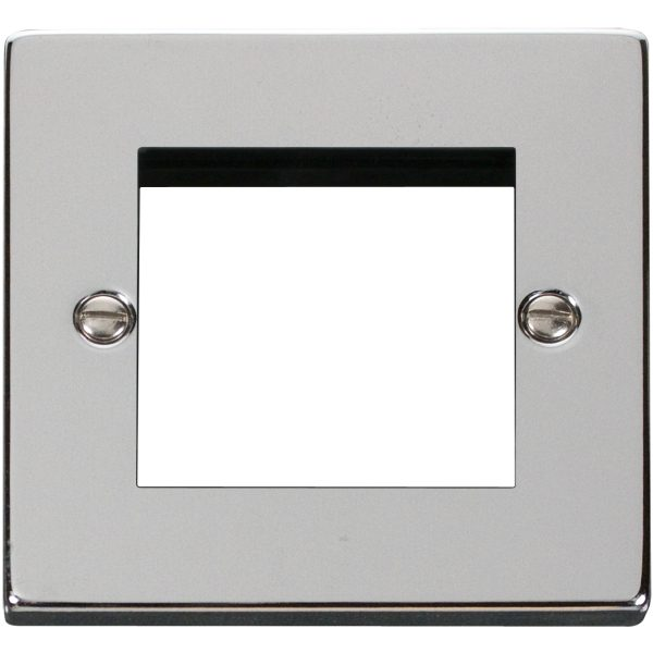 Single Plate (Twin Media Module Aperture) Unfurnished-Polished Chrome