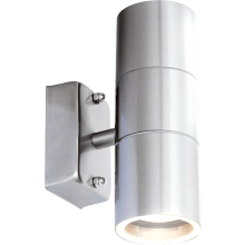 Suregraft Hannah IP44 GU10 Up & Down Wall light SS